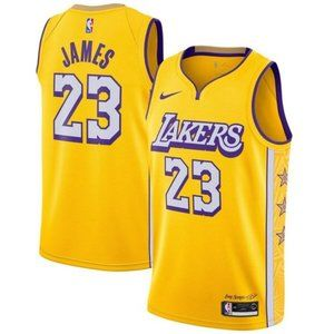 Los Angeles Lakers LeBron James City Jersey
